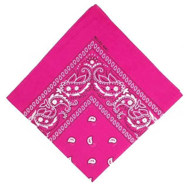 Бандана-платок женская Baziator в стиле hip-hop фуксия