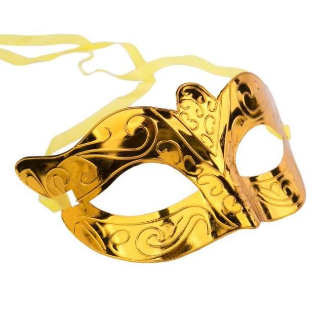 Маскарадная маска Феникс-Презент Золото из пластика