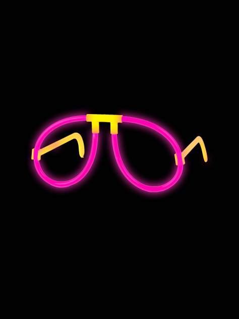 Светящиеся очки Феникс-Презент Розовые