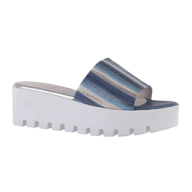 Сабо женские Shoes Market 25-16-813-D9-B171-A5 синие 37 RU