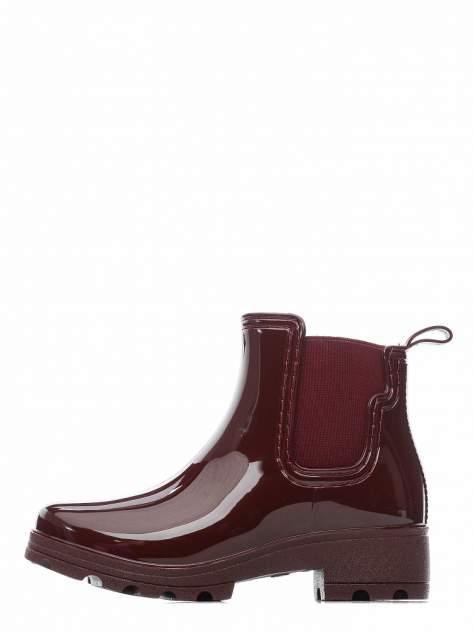 Резиновые ботинки женские INSTREET 268-33WA-200XT бордовые 38 RU