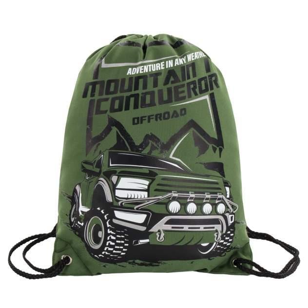 Мешок для обуви Brauberg Mountain conqueror Premium, подкладка, светоотражатели, 43*33 см