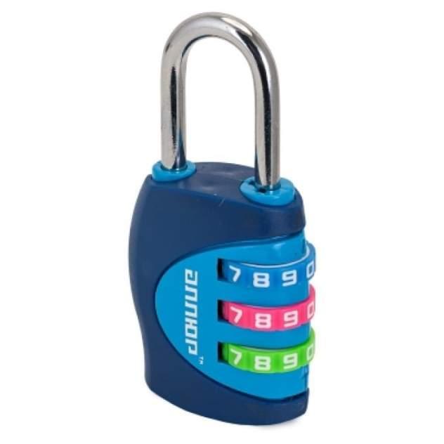 Замок кодовый навесной d=4мм синий ВС1К-27/4 (F5), Аллюр