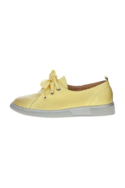 Полуботинки женские MADELLA XUS-01551-1 желтые 38 RU