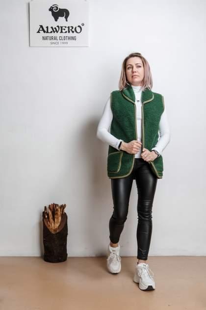 Женский утепленный жилет Alwero ПИРЕНЕИ, зеленый