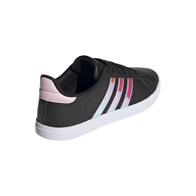 Кеды женские Adidas Courtpoint черные 6 UK