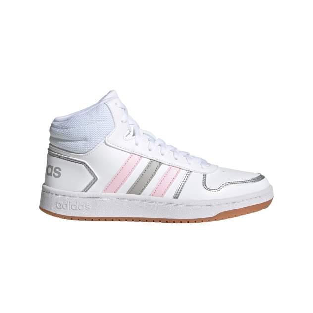 Кроссовки женские Adidas Hoops 2.0 Mid белые 7 UK