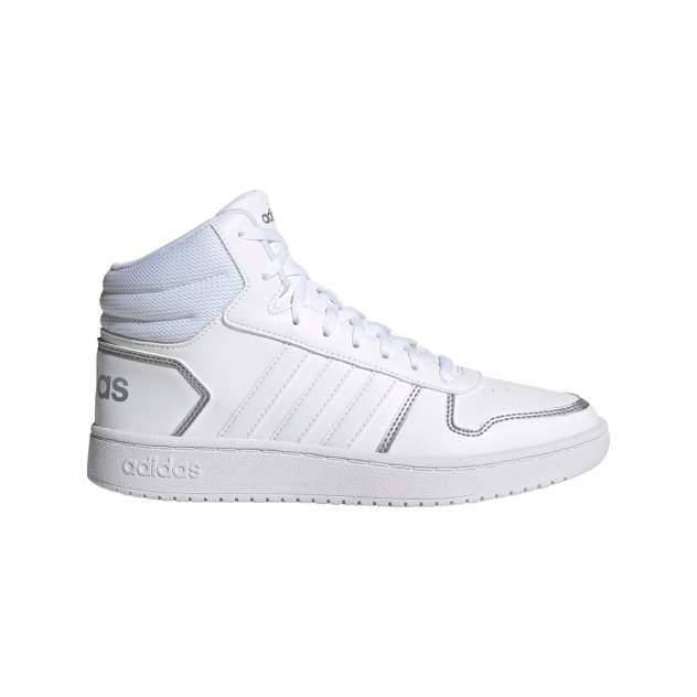 Кроссовки женские Adidas Hoops 2.0 Mid, белый