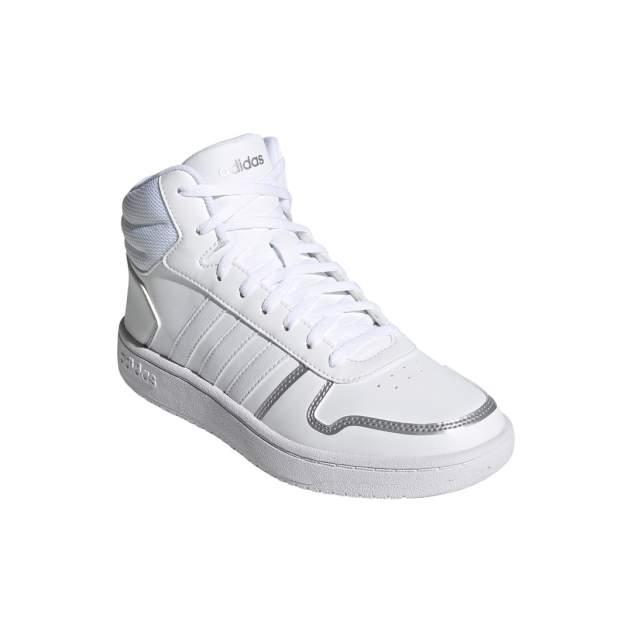 Кроссовки женские Adidas Hoops 2.0 Mid белые 5 UK
