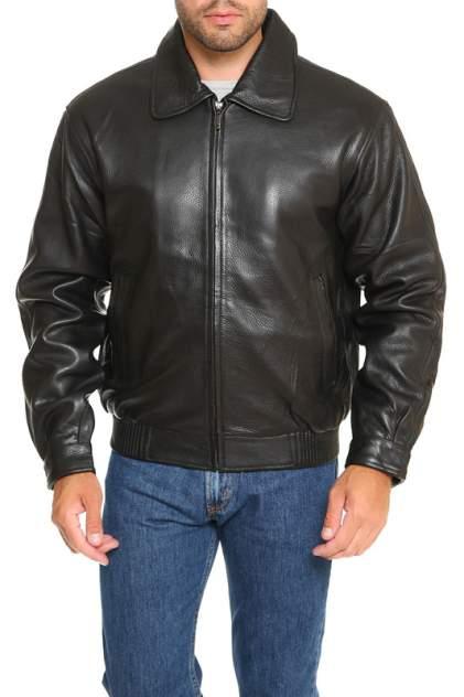 Кожаная куртка мужская DONGFAZQ 601 черная 2XL