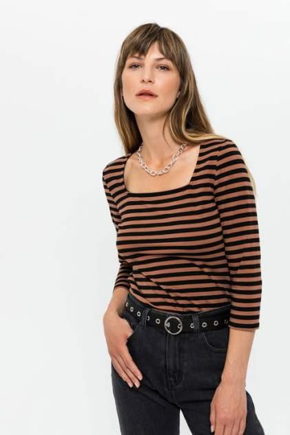 Лонгслив женский Sela 809010225 коричневый L