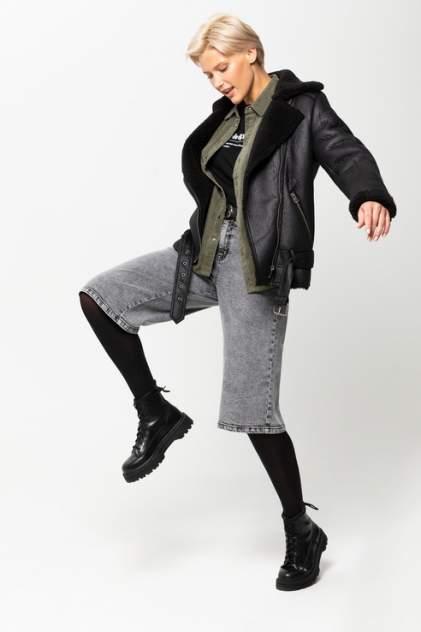 Джинсовые шорты женские Sela 809021427 серые 48