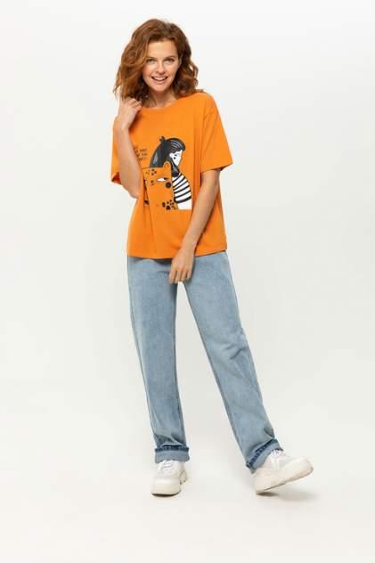 Футболка женская Sela 8090102730 оранжевая L