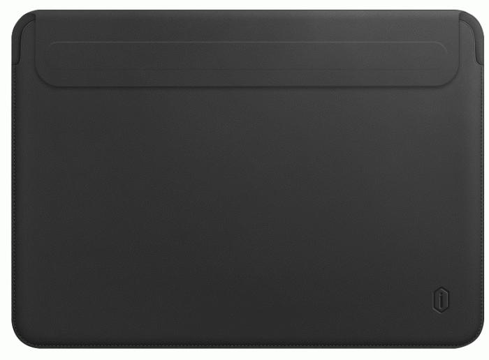 Чехол Wiwu Skin New Pro 2 Leather Sleeve Velcro для MacBook Air 13/Pro 13 Black
