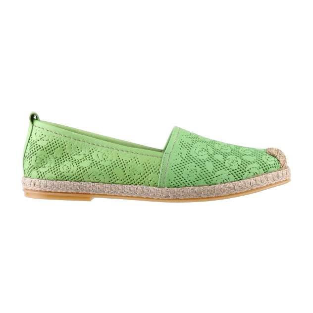 Эспадрильи женские Shoes Market 6-111-27 зеленые 36 RU