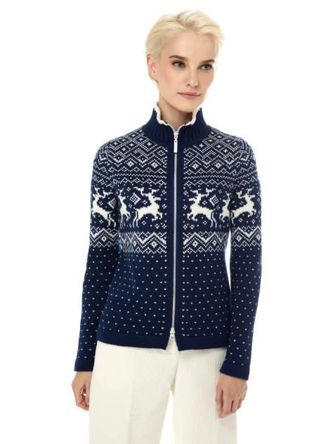 Кардиган женский Scandica Reindeers синий 50/176