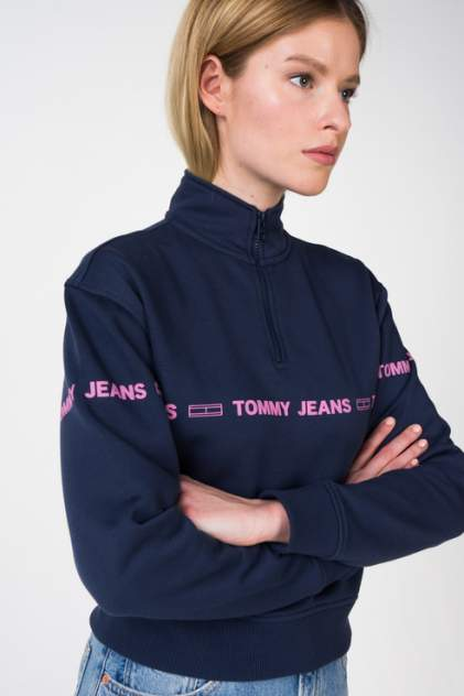 Толстовка женская Tommy Jeans DW0DW05692 синяя 48