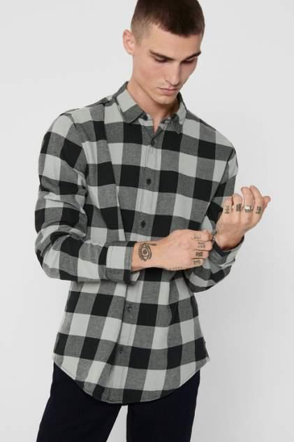 Рубашка мужская ONLY & SONS 22007112 серая 50