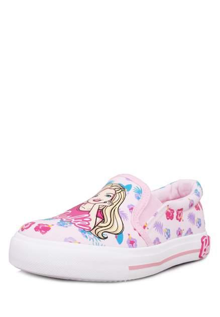 Слипоны детские Barbie, цв. розовый р.30