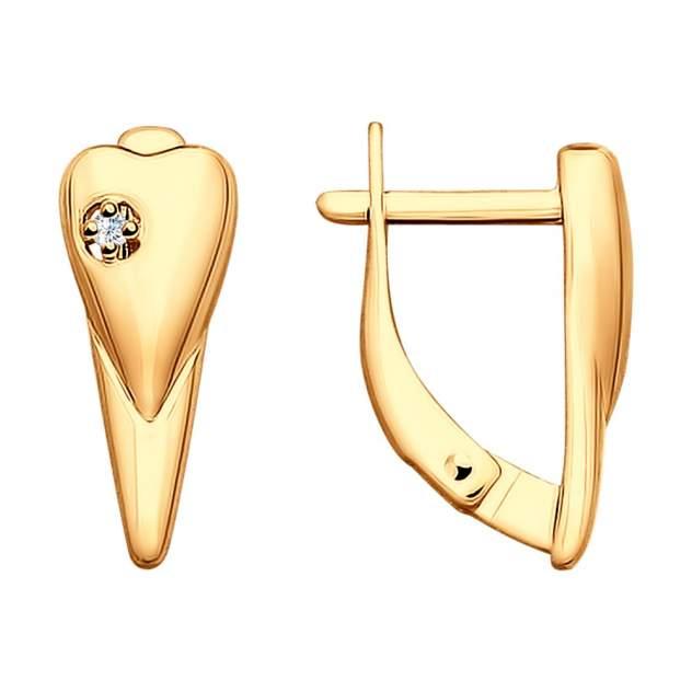 Серьги женские из серебра SOKOLOV 87020019, бриллиант