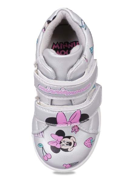 Кеды детские Minnie Mouse, цв. серебристый р.22