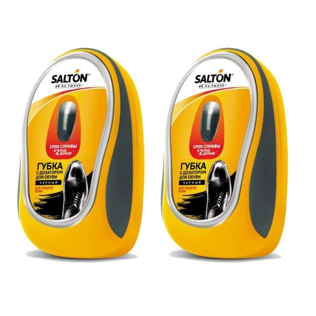 Губка для обуви Salton с дозатором для гладкой кожи черная (набор 2шт)