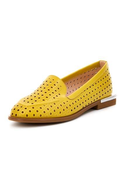 Лоферы женские PROMINENTE 511S-2486V желтые 38 RU