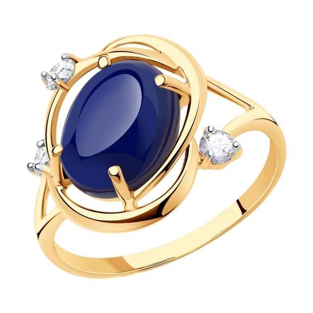 Кольцо женское SOKOLOV из золота с корундом и фианитами 716024 р.17