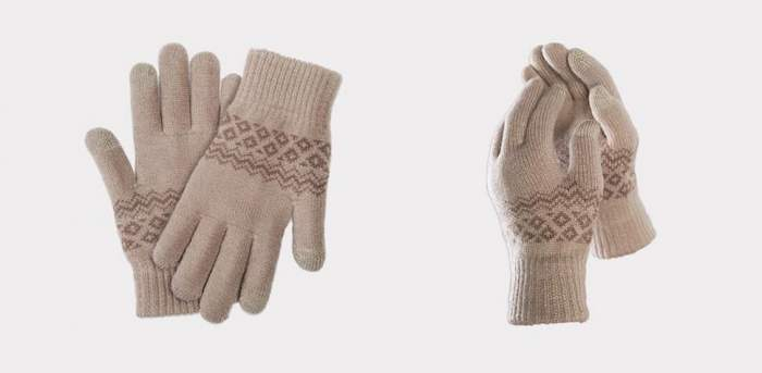 Перчатки Xiaomi для сенсорных экранов FO Touch Wool Gloves 160/80 бежевые