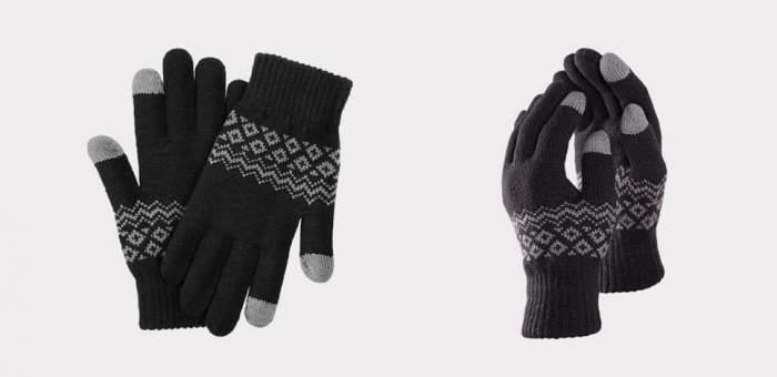 Перчатки Xiaomi для сенсорных экранов FO Touch Wool Gloves черные 9.5