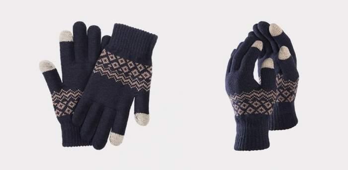 Перчатки Xiaomi для сенсорных экранов FO Touch Wool Gloves синие 9.5