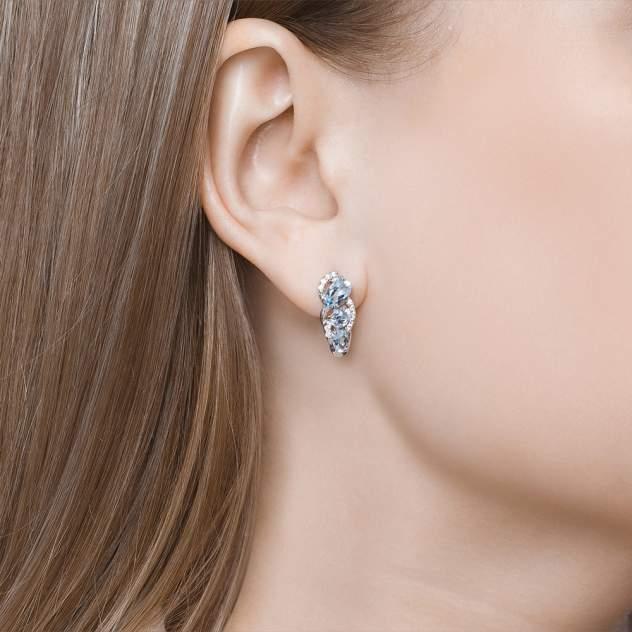 Серьги женские из серебра SOKOLOV 92021139, топаз/фианит