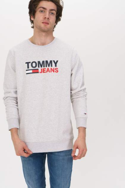 Свитшот мужской Tommy Jeans DM0DM07930 серый 46