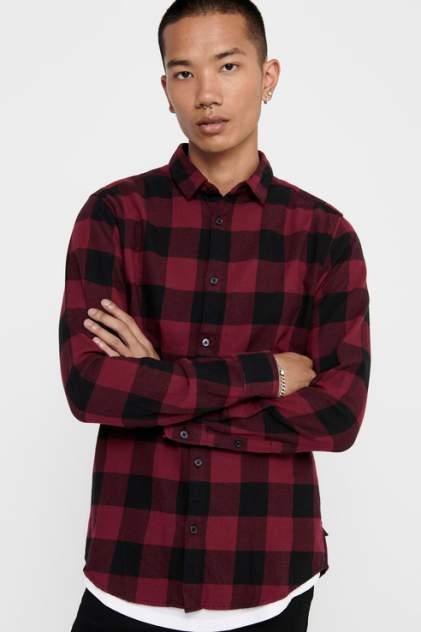 Рубашка мужская ONLY & SONS 22007112 красная 48