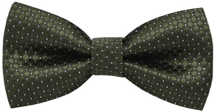Детский галстук-бабочка 2beMan MGB067зеленый