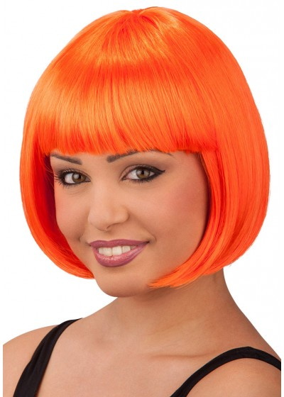 Парик Каре с челкой, флуоресцентный Цв: Оранжевый АРТЭ 2428