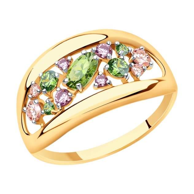 Кольцо женское SOKOLOV из золота с фианитами Swarovski 81010469 р.18.5