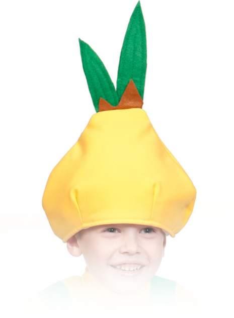 Карнавальная маска-шапка Карнавалофф Лук Чиполино (размер 53-55)