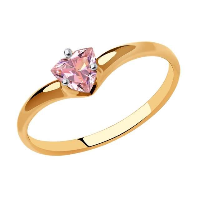 Кольцо женское SOKOLOV из золота с фианитом Swarovski 81010483 р.18.5