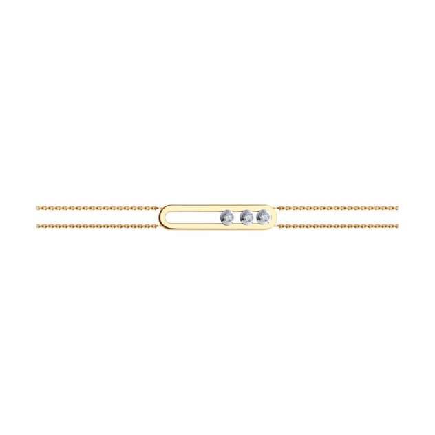 Браслет женский SOKOLOV из золота с фианитами Swarovski 81050039 р.18
