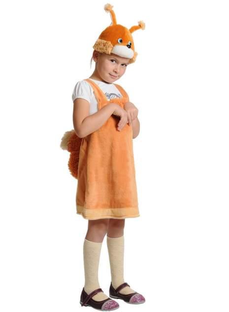 Карнавальный костюм Карнавалофф Белка, цв. оранжевый р.92