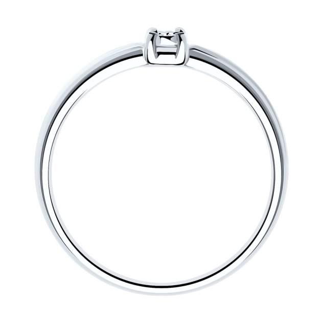 Кольцо женское SOKOLOV из серебра с бриллиантом 87010016 р.17.5