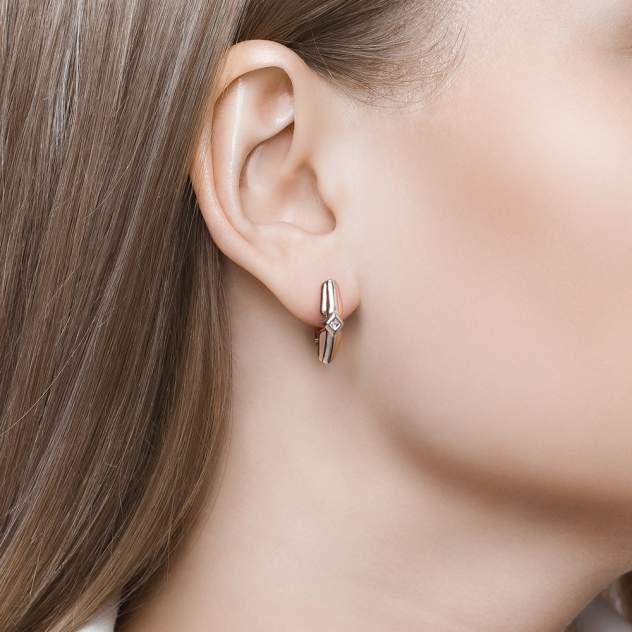 Серьги женские из серебра SOKOLOV 87020029, бриллиант