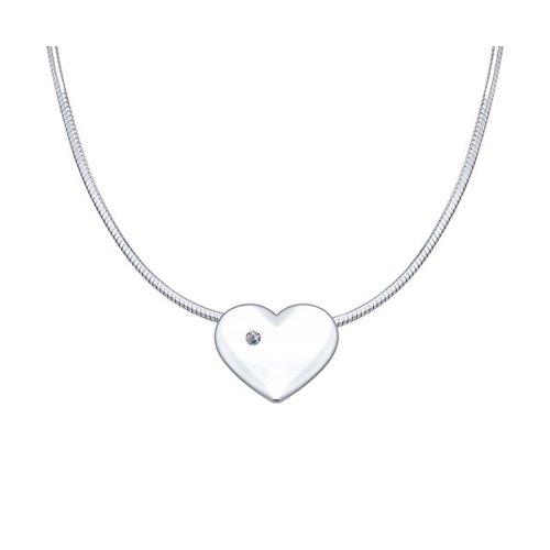 Серебряное колье «Любовь» SOKOLOV 87070006 40