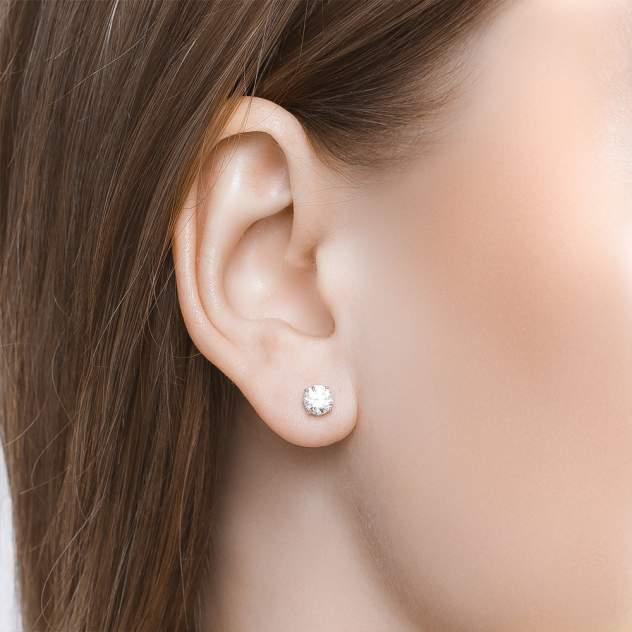 Серьги женские из серебра SOKOLOV 89020022, фианит