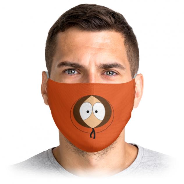 Многоразовая маска Printio Кенни оранжевая L