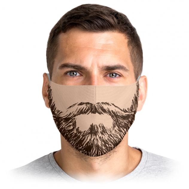 Многоразовая маска Printio Stop virus! бежевая L