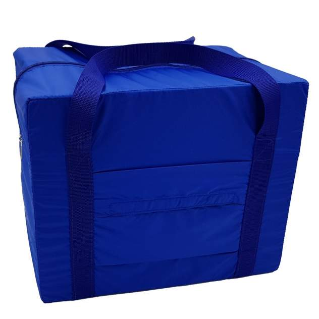 Дорожная сумка Pobedabags Эко-Лайт синяя 36 x 30 x 27 см