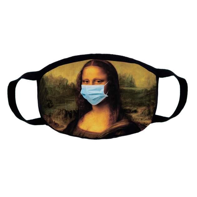 Многоразовая защитная маска Kawaii Factory KW199 Мона Лиза черная 1 шт.