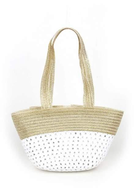 Сумка пляжная для девочек Daniele Patrici цв. белый золотистый